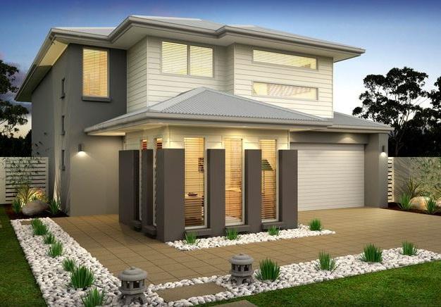 Casas modernas de 2 pisos for Modelos de casas minimalistas de dos plantas