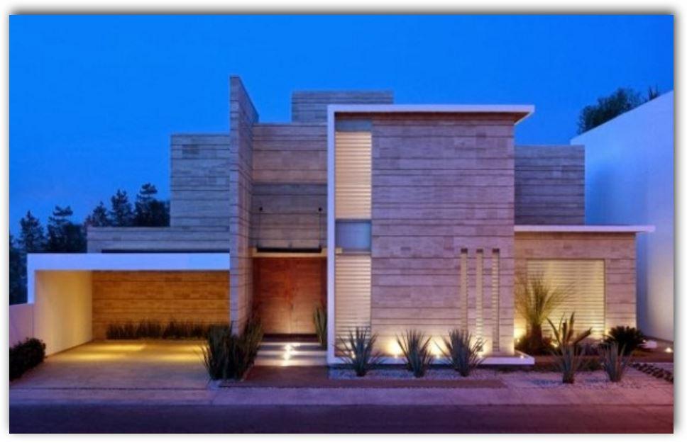 casa-moderna-con-garaje-abierto-y-revestimiento-en-piedra