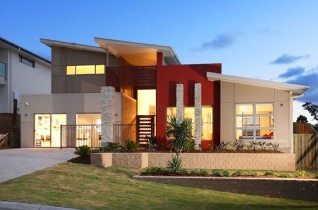 Fachadas de casas bonitas de dos pisos for Estilos de jardines para casas