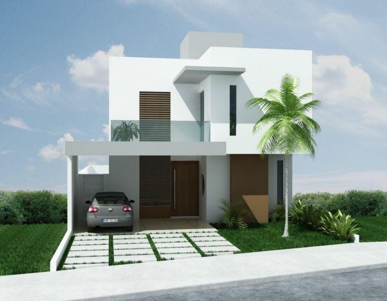 Fachadas bonitas de casas de dos pisos for Pisos para fachadas de casas
