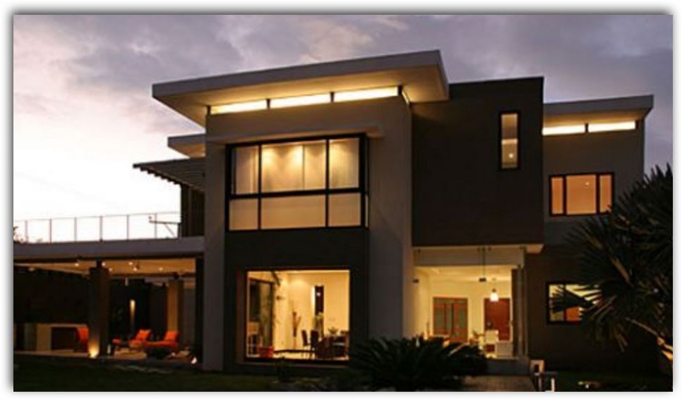 Fachadas de casas con ventanas modernas for Casa minimalista que es