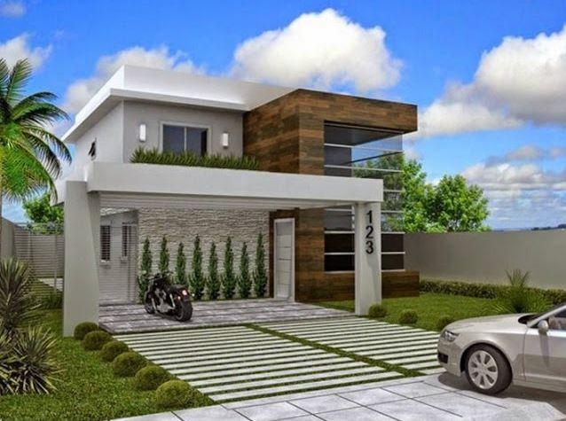 Fachadas de casas de 2 pisos part 2 for Fachadas de jardines para casas