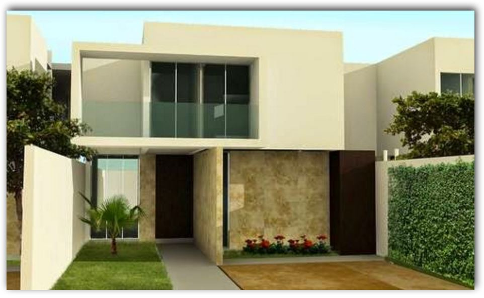 Fachada de casa sencilla for Frentes de casas modernas de dos pisos