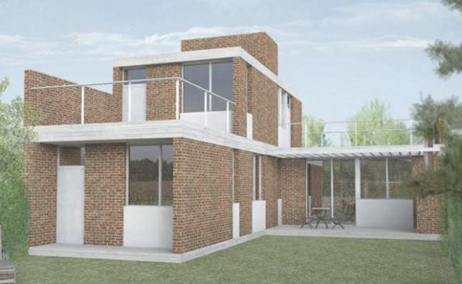 Materiales para frentes de casas for Modelos de viviendas