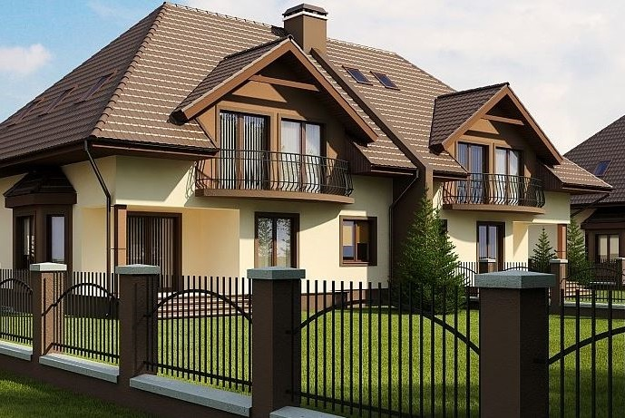 fachadas-de-casas-con-balcon-redondo