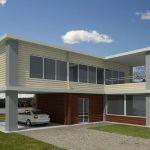Fachadas de casas en L