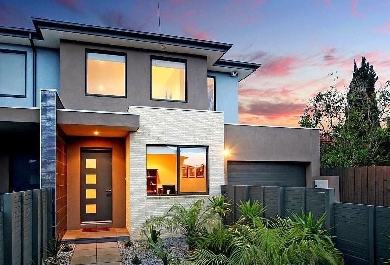 Fachadas de casas de 2 pisos for Viviendas minimalistas pequenas
