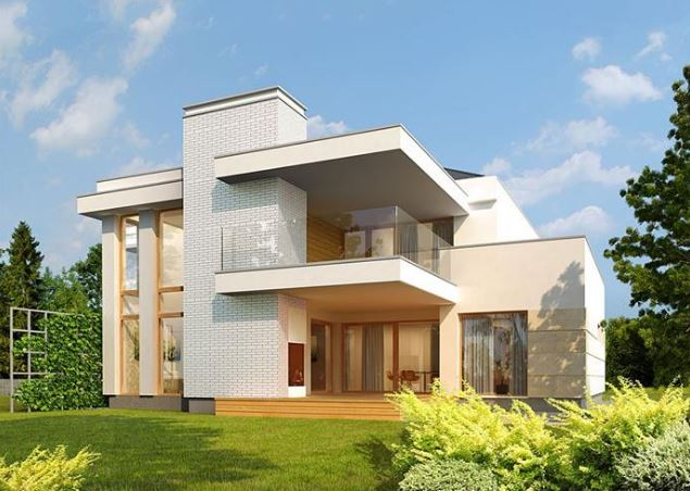 Casas modernas de 2 pisos for Fachadas de viviendas modernas