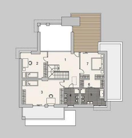 Fachadas de casas modernas for Casas modernas planos y fachadas