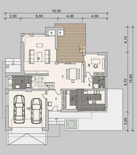Fachadas de casas modernas for Planos de casas de 2 pisos