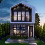 Casa angosta con fachada bonita