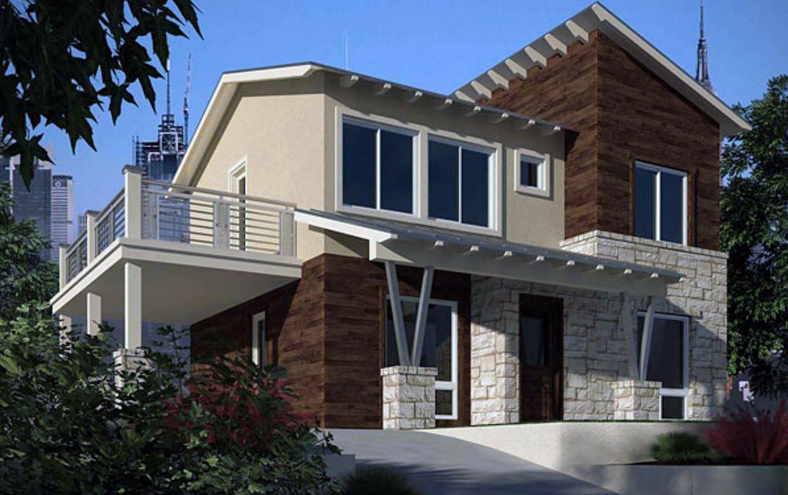 Fachadas de casas con balcones for Balcones minimalistas fotos