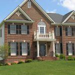 Fachadas de casa con tabique rojo