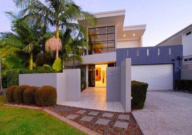 Colores de fachadas de casas modernas for Colores modernos para exteriores