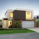 Fachada de casa bonita y moderna