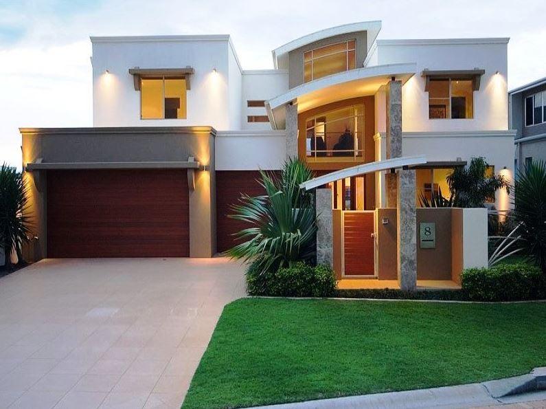 fachada-moderna-de-2-pisos-con-techo-curvo