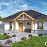 Modelo de fachadas para casas de una planta