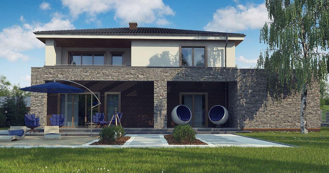 casa-moderna-de-dos-pisos-con-piedra-natural-y-ladrillos-vistos