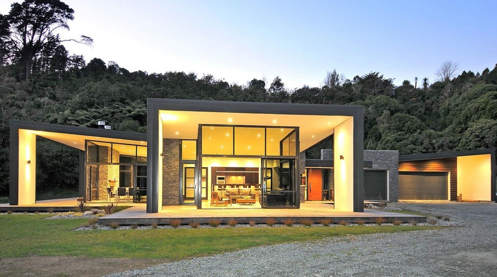 casa-rustica-y-moderna-con-vidrios