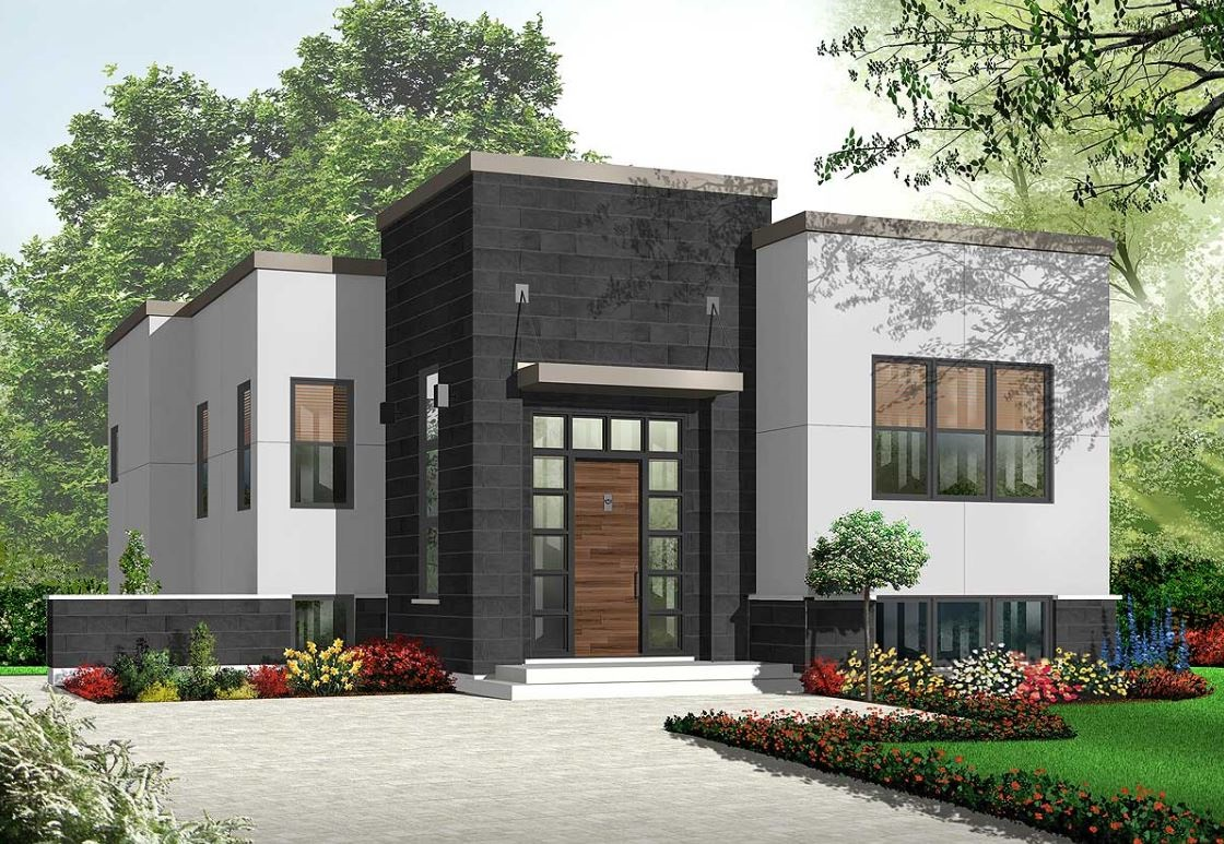 fachada-moderna-revestida-en-negro