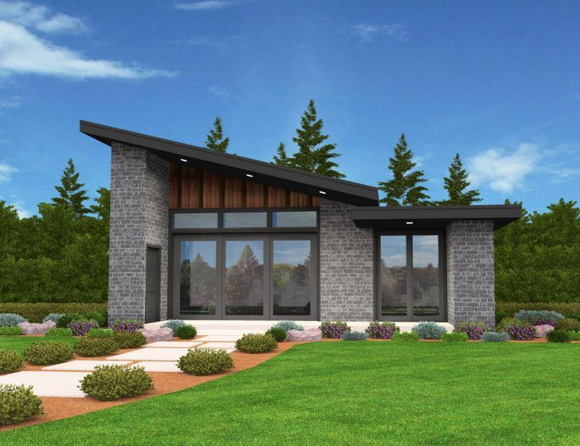 fachadas de piedra para casas peque as