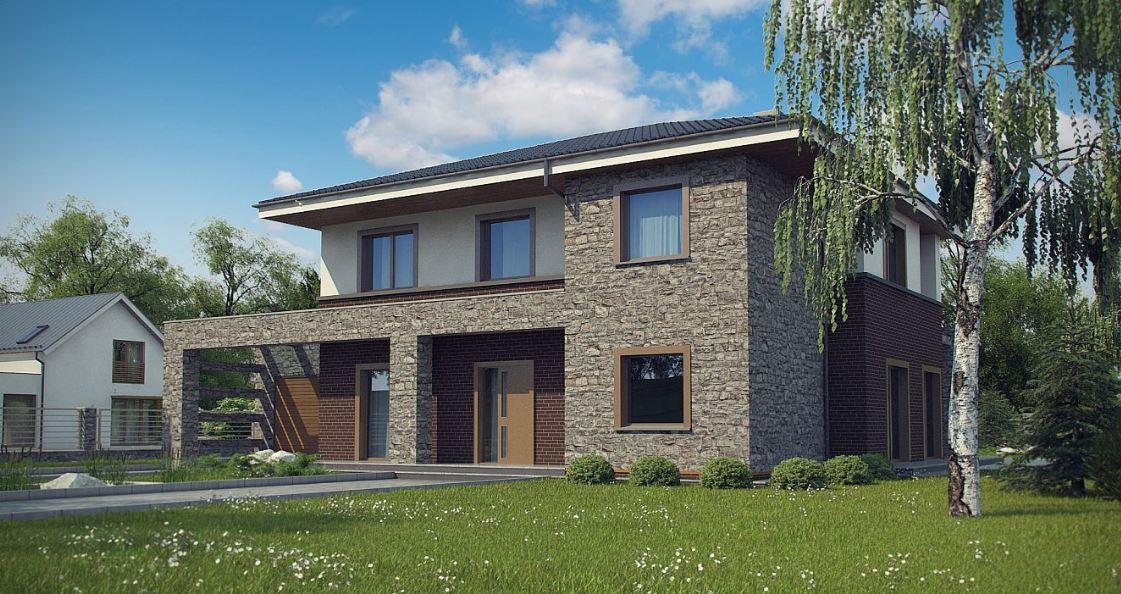 Fachadas de casas de 2 pisos for Fachadas de casas modernas con piedra
