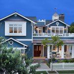 Fachadas de casas azules