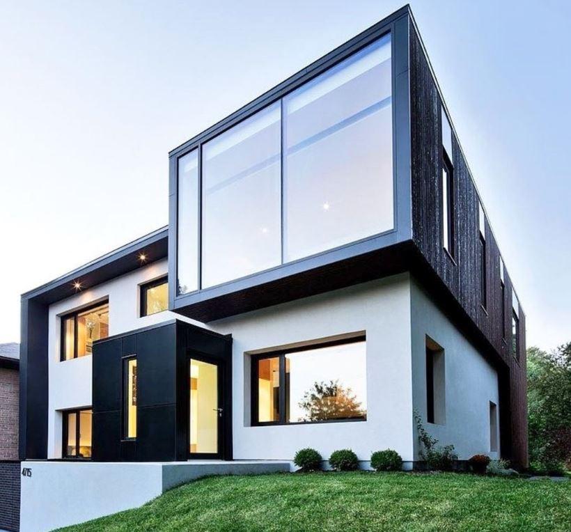Casas pintadas en gris cool fachadas casas pintadas color - Fotos de la casa blanca por fuera ...