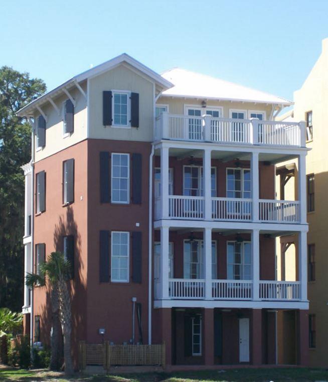 Fachadas para casas de cuatro pisos for Modelos de balcones modernos para casas