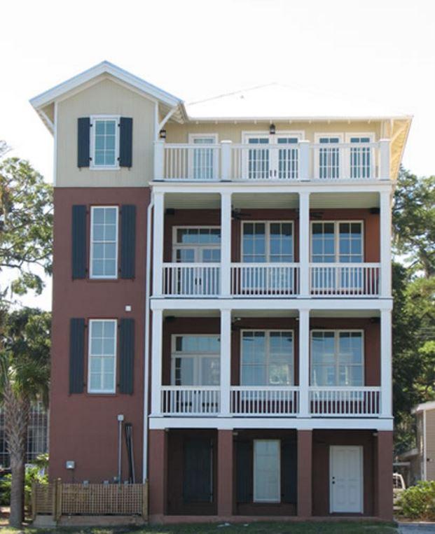 Fachadas para casas de cuatro pisos for Modelos de techos para casas de dos pisos