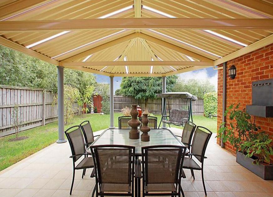 Contrafachadas de casas - Cubiertas para patios ...