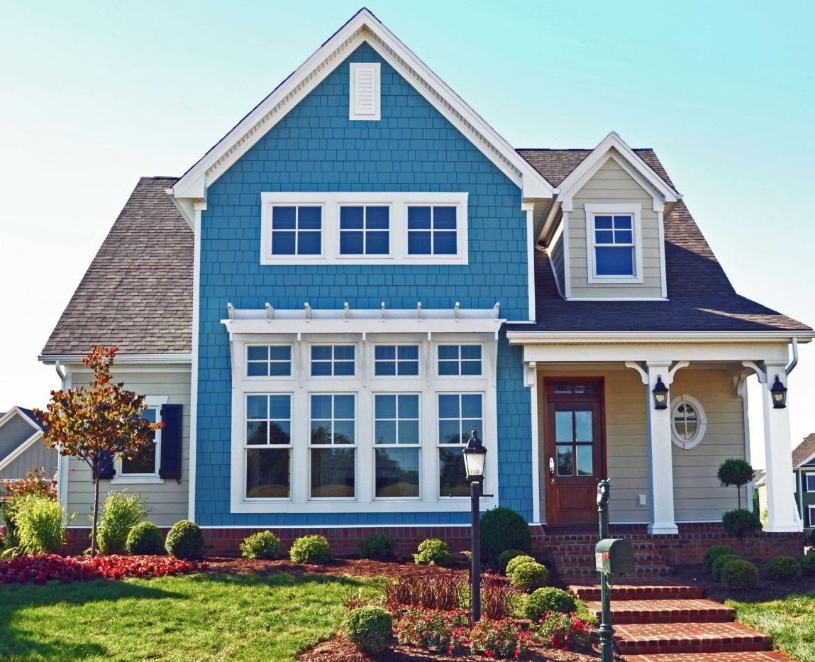 Fachadas de casas pintadas stunning frente de la casa for Frentes de casas pintadas
