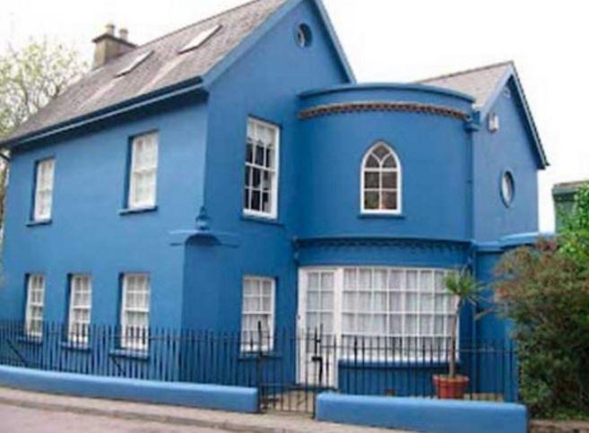 Ver fachadas de casas fachadas de casas estilos de - Casas de color azul ...