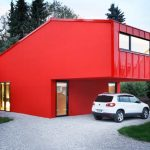 Fachadas de casas rojas