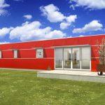 Casas fachada roja