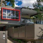 Fachada moderna con balcon terraza