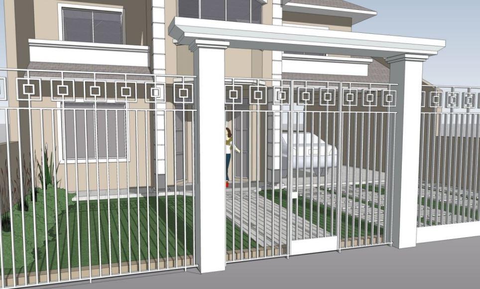 Fotos de portones para casas - Rejas de casas modernas ...