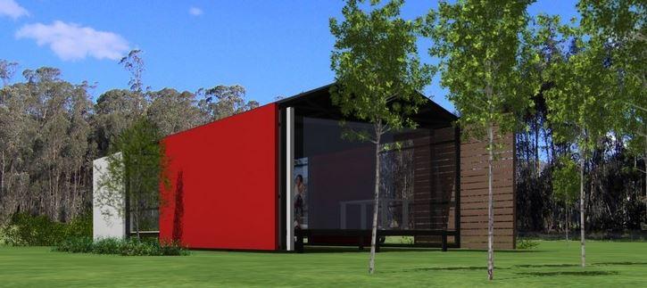 fachadas de una planta fachada de casa simple y moderna