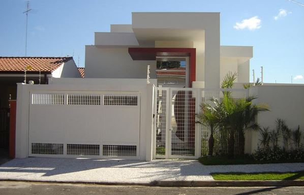 Fachadas de casas con rejas y portones - Materiales para fachadas de casas ...