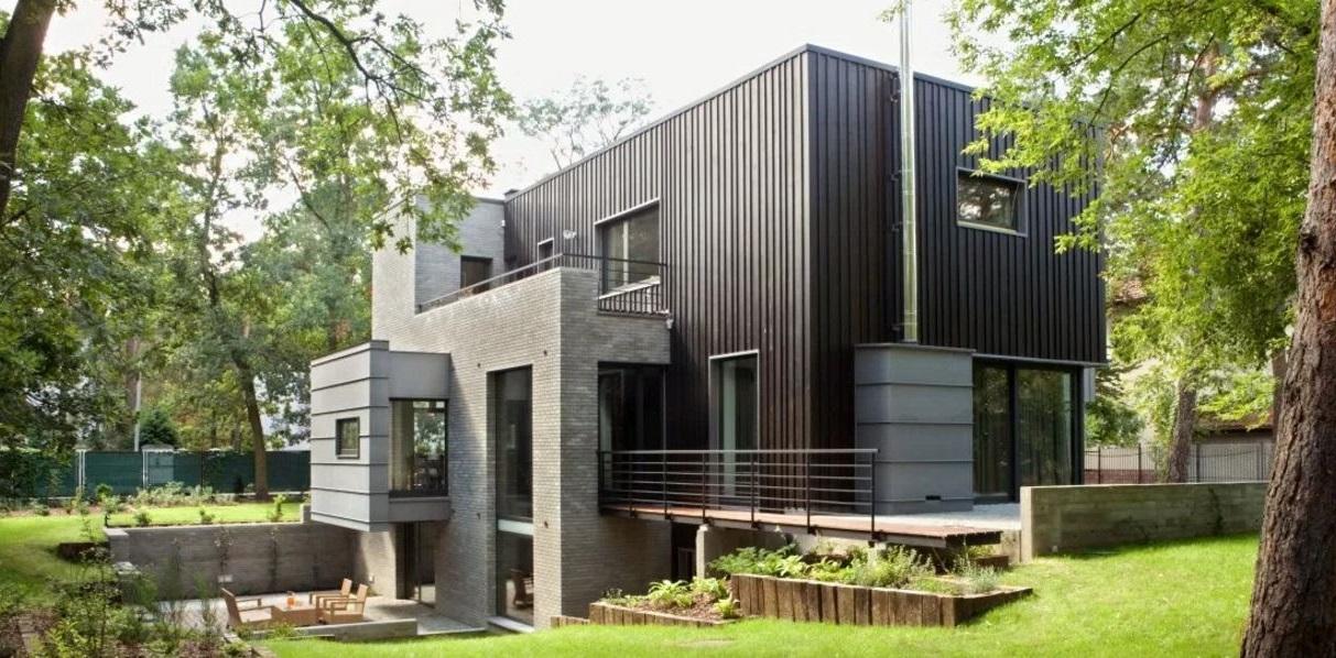 50 casas con techo plano for Casas de chapa para jardin