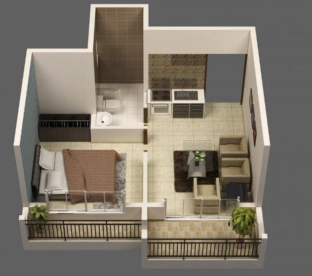 Departamentos peque os modernos for Modelos de apartamentos modernos y pequenos
