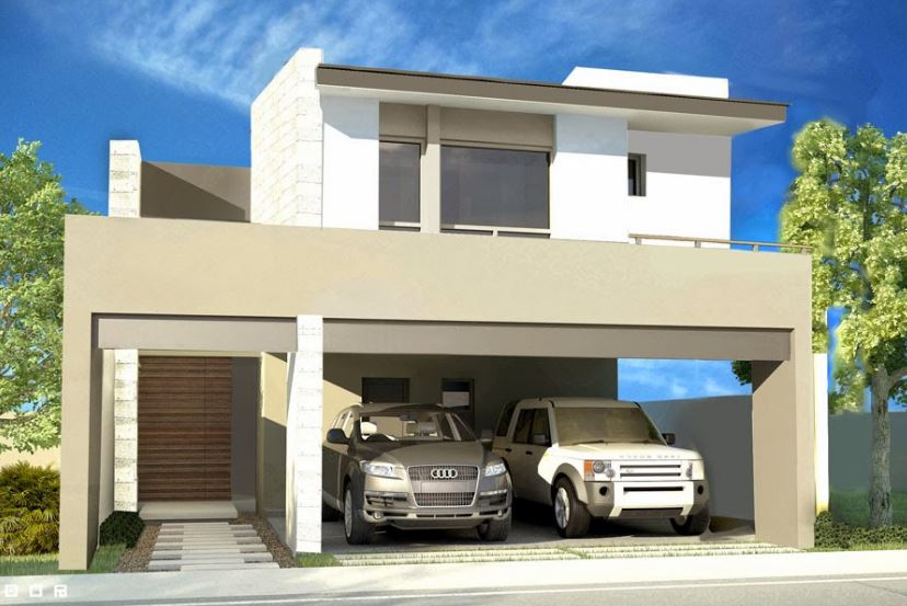 Fachadas de casas for Opciones de techos para casas