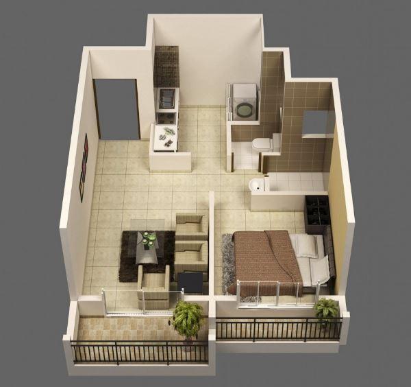 Modelos de departamentos peque os y bonitos for Modelos apartamentos modernos
