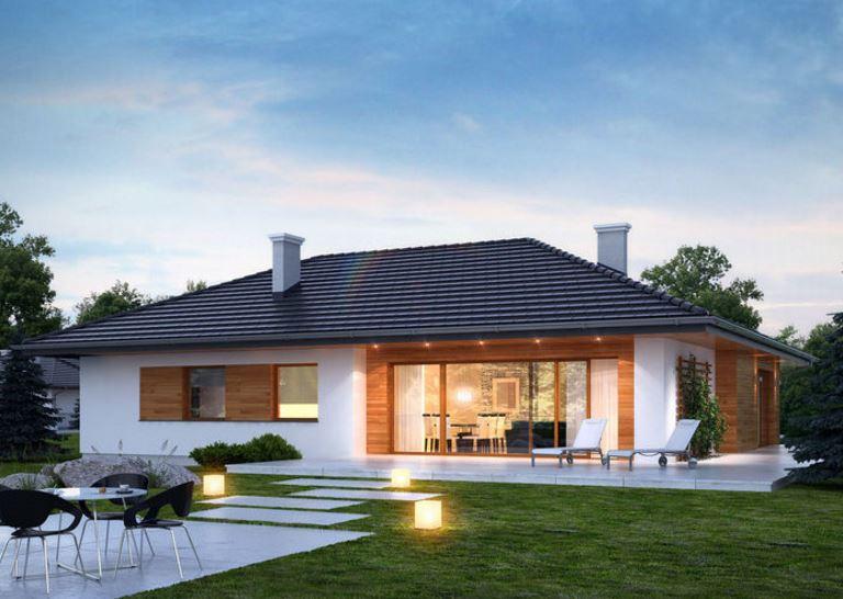 Fachadas de casas modernas con madera for Casas modernas 4 aguas