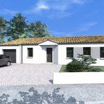 Fachadas de casas de una planta con tejas españolas