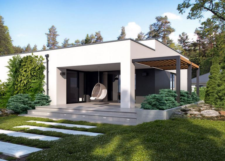 Colores para fachadas for Fachadas modernas de una planta