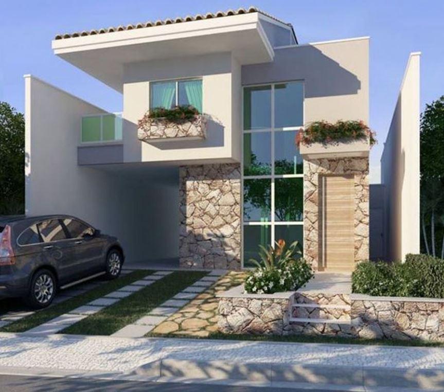 Fachadas de casas peque as 2017 for Frentes de casas sencillas