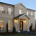 Casa grande con columnas