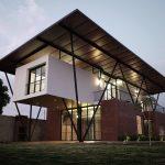 Fachadas con techo flotante