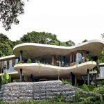 Fachadas de casas con curvas